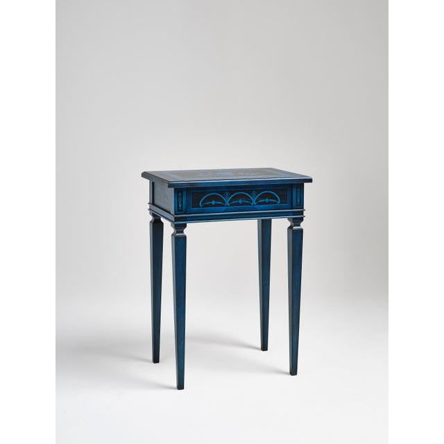 Mediterranean Italian Marquetry Accent Table For Sale - Image 3 of 8