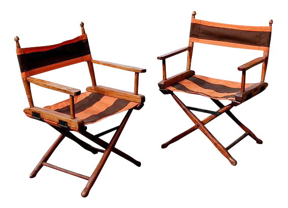 Gold Medal Manufacturing Company Directoru0027s Chairs   A Pair
