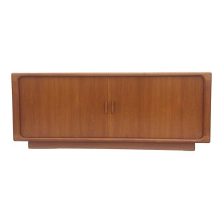 Danish Modern Sideboard With Tambour Doors by Dyrlund For Sale