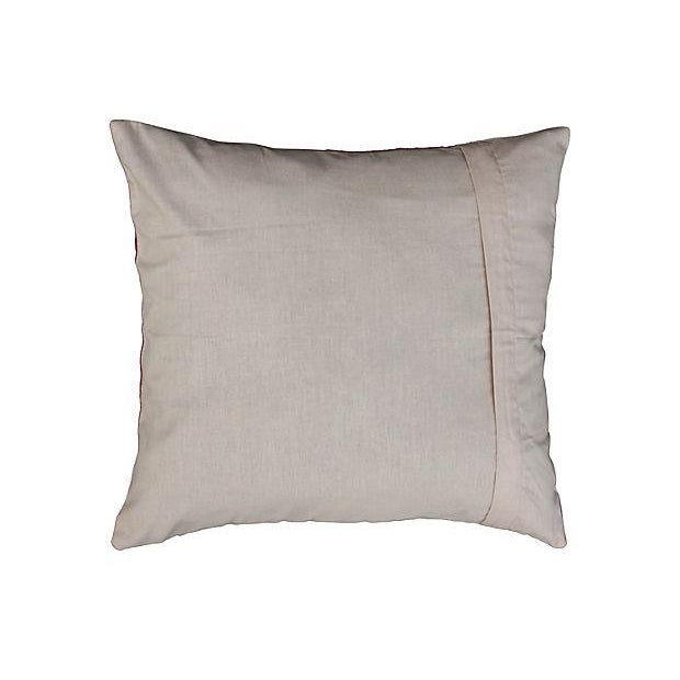 Handwoven Uzbek pillow sham with pure silk-embroidered pattern. Solid back, zipper closure. New custom down-alternative...