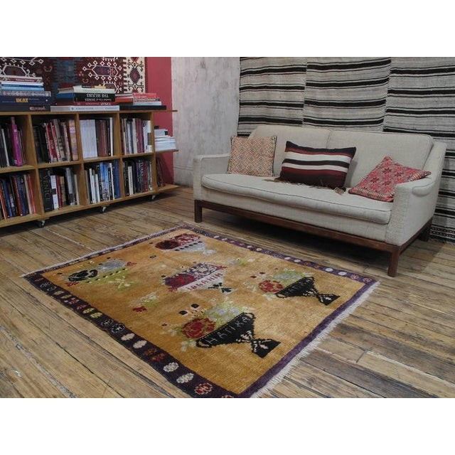 "A lovely old village rug from Central Turkey, woven in the ""Tulu"" tradition, with a rare and interesting design featuring..."
