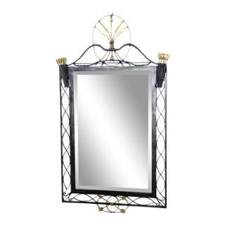 Regency Style Metal Wall Mirror For Sale