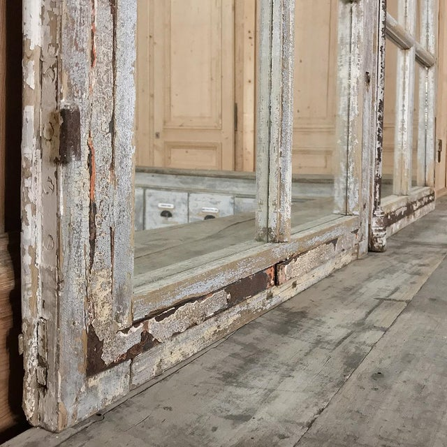 Pair 19th Century Mirrored Window Frames For Sale - Image 9 of 12