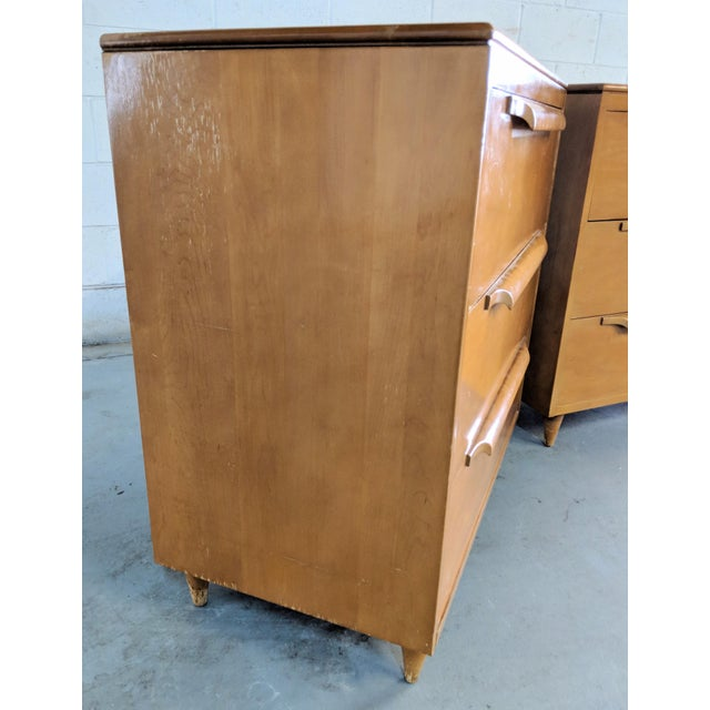 Maple 1960s Danish Modern Maple Dressers - a Pair For Sale - Image 7 of 12