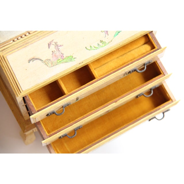 Vintage Wooden Jewelry Chest - Image 10 of 11