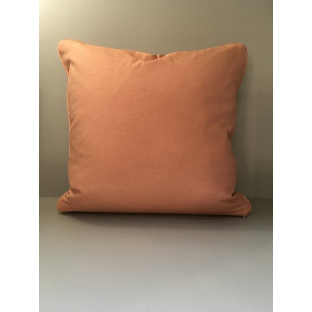 Fortuny Fortuny Sevigne Pillow in Melon and Silvery Gold For Sale - Image 4 of 5