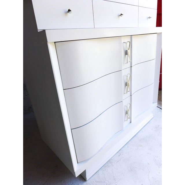 Mid-Century Freshly Painted Dresser For Sale - Image 9 of 9