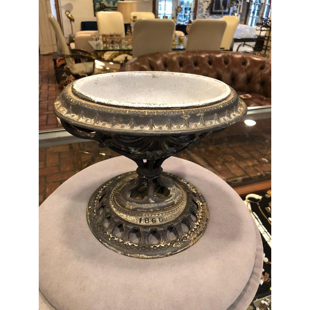 1865 Victorian Religious Holy Water Font or Cachepot