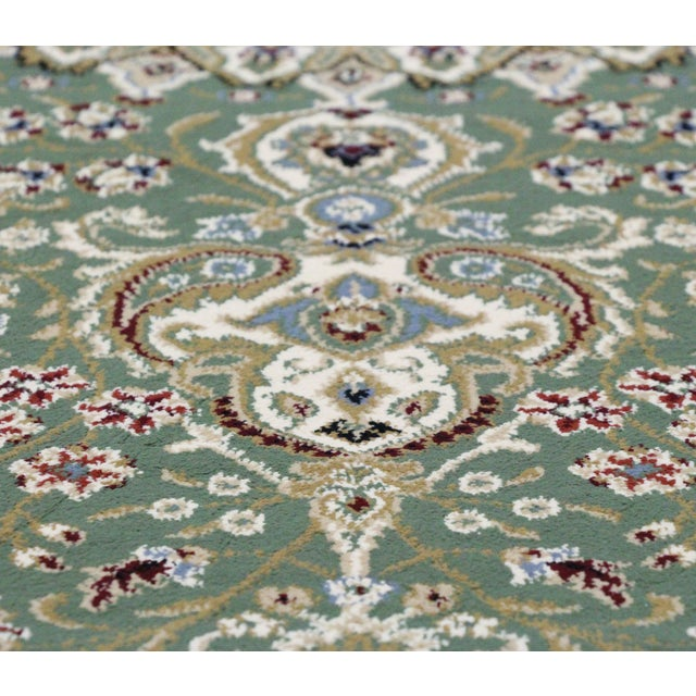 Traditional Medallion Green Rug - 5′3″ × 7′4″ - Image 8 of 8
