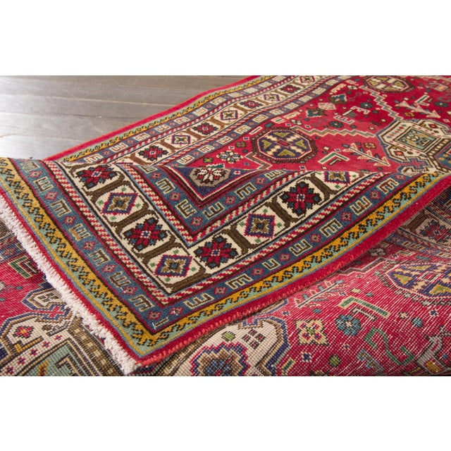 "Traditional Apadana - Vintage Persian Tabriz Rug, 3'4"" x 13'3"" For Sale - Image 3 of 4"