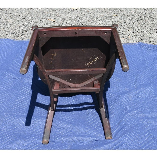 Burgundy 1920s Antique Bankers Chair For Sale - Image 8 of 9