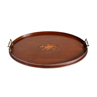 English Marquetry Inlay Tea Tray