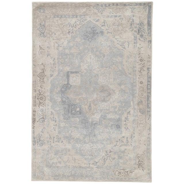 Jaipur Living Bronde Handmade Medallion Gray/ Light Blue Area Rug - 10′ × 14′ For Sale In Atlanta - Image 6 of 6