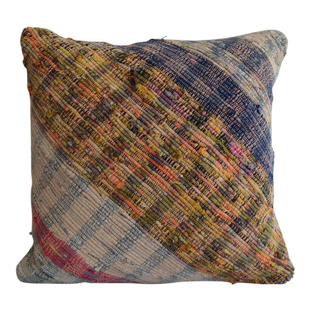 "16"" Pillow Cover Vintage Handmade Cotton Turkish Ragrug Kilim Sham Throw For Sale"
