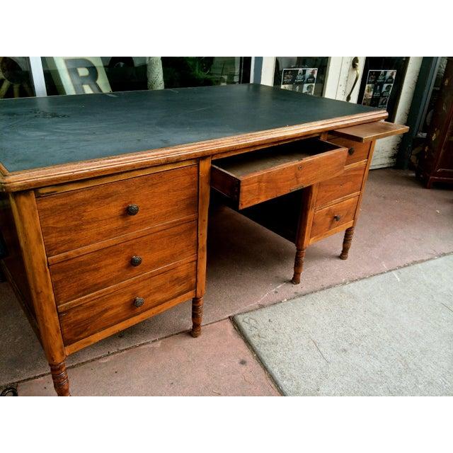 Arts & Crafts Arts & Crafts Slate-Top Wood Desk For Sale - Image 3 of 11