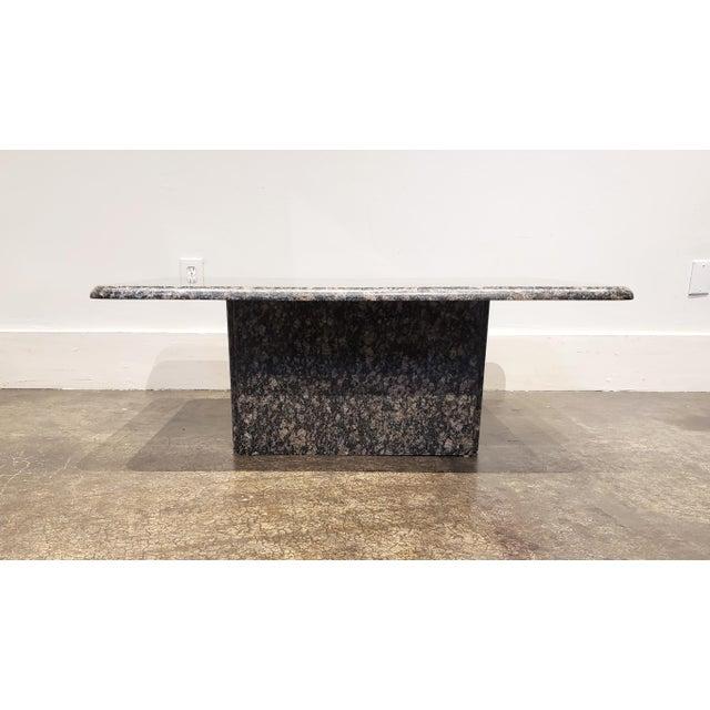 Mid-Century Modern 1980s Rectangular Italian Granite Coffee Table For Sale - Image 3 of 10