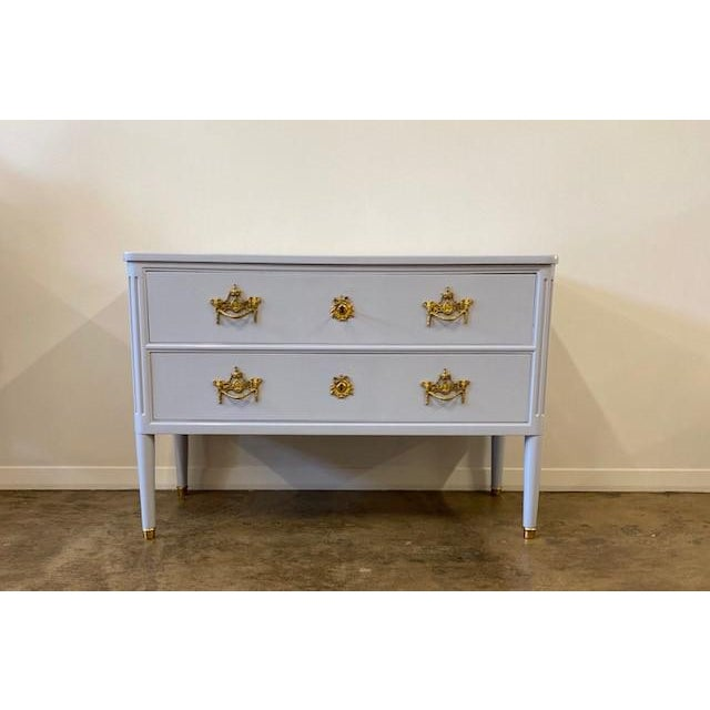 Antique Lacquered Two Drawer Commode For Sale In Dallas - Image 6 of 6
