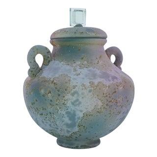 Tony Evans Raku Pottery Lidded Vase For Sale