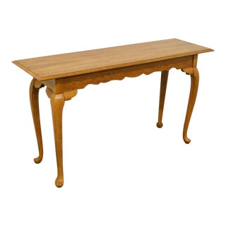 "Kincaid Furniture French Country Solid Oak 52"" Sofa Accent Table For Sale"