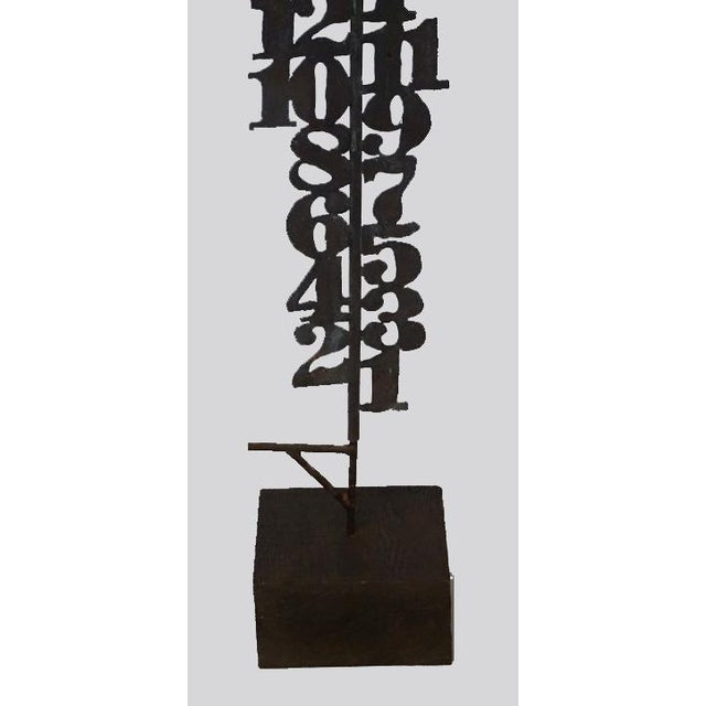 Mid-Century Modern Numerical Totem Sculpture For Sale - Image 3 of 5