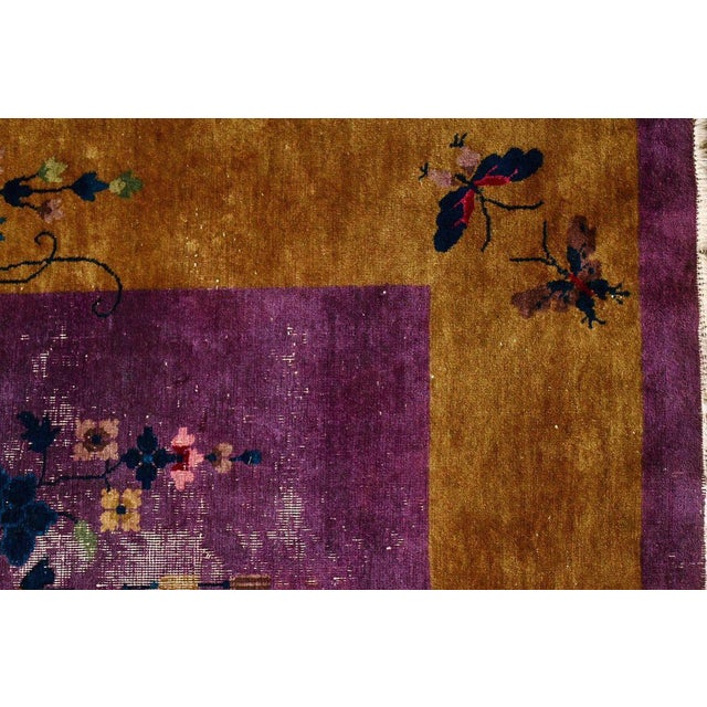 Chinese Art Deco Room Size Rug - 10′2″ × 13′5″ For Sale - Image 4 of 7