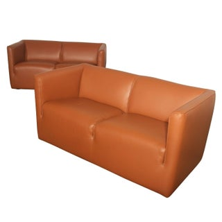 Metro 600 Inverness Leather Loveseats - Pair