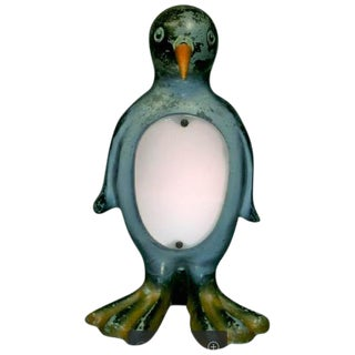 Adorable Modernist Rare Art Deco Penguin Lamp For Sale