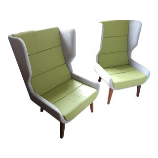 Hush Wingback Chair by Naughtone - a Pair For Sale