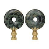 Image of Kambaba Jasper Lamp Finials - A Pair For Sale