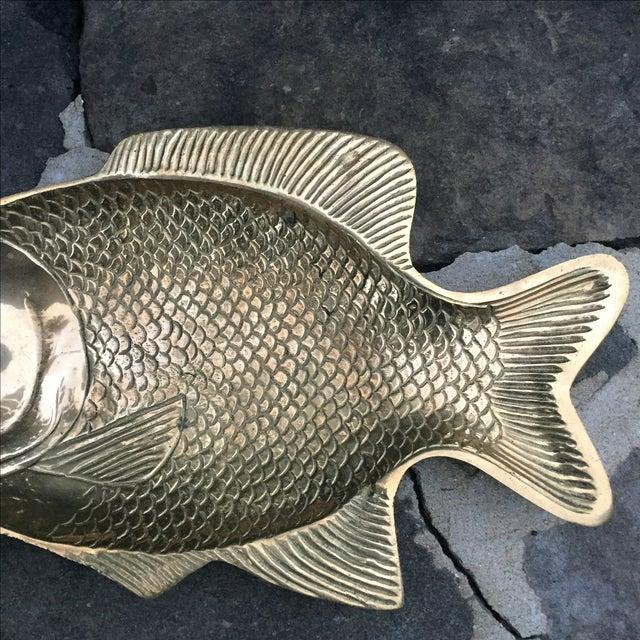 Vintage Brass Fish Dish - Image 5 of 8