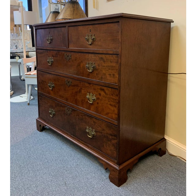 17th Century 1800s English Georgian Mahogany 5 Drawer Dresser Chest For Sale - Image 5 of 11