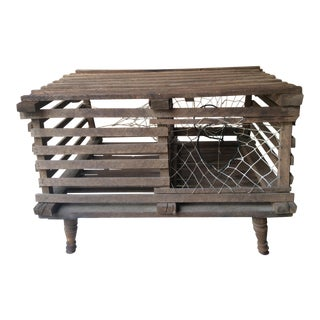 20th Century Nautical Handmade Crab & Lobster Trap Table For Sale