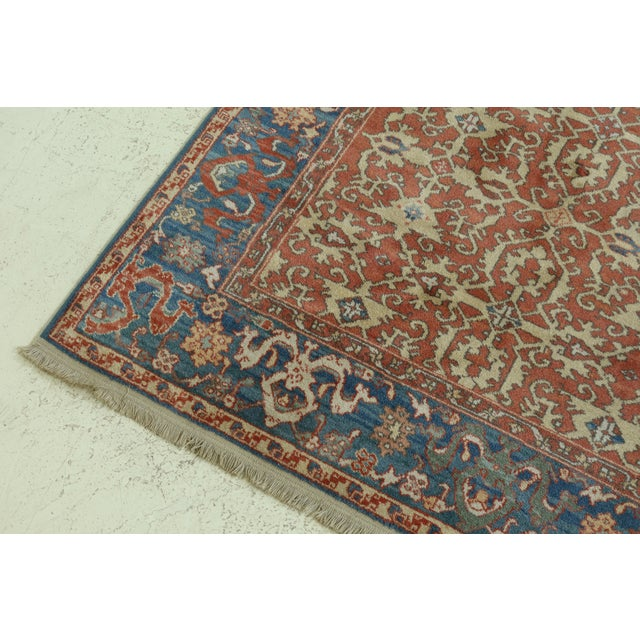 Traditional Karastan Approx 8 X 12 Ushak Colonial Williamsburg Rug For Sale - Image 3 of 13