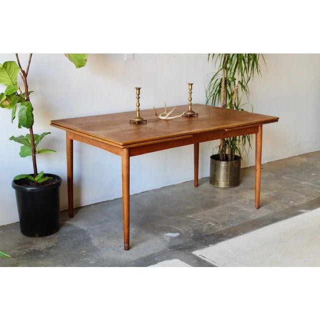 1960s 1960's Mid Century Modern Teak Extending Dining Table For Sale - Image 5 of 11