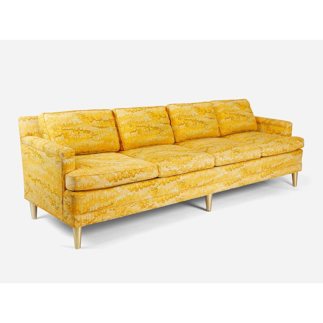 Beautiful Jack Lenor Larsen sofa on brass legs. 8' long. Original fabric with down filled cushions. We also have an 11...