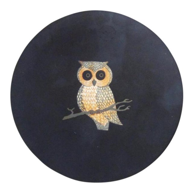 Vintage Couroc of Monterey Owl Dish For Sale