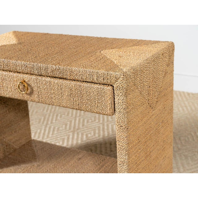 Traditional Woven Rope Side Table For Sale - Image 4 of 6