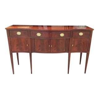 Hickory Chair Co Mahogany Federal Style Historical James River Plantation Dining Sideboard For Sale