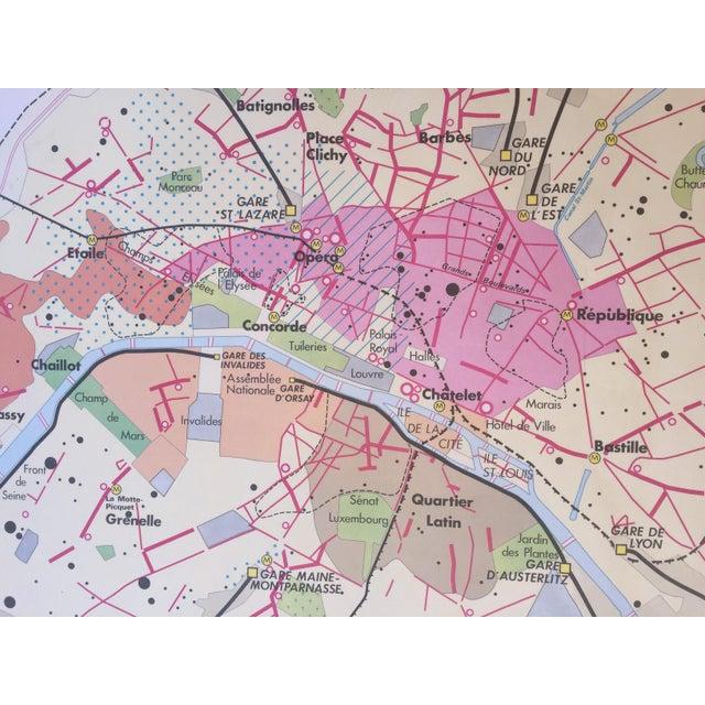 MidCentury Oversized Map Of Paris Chairish - Modern map of paris