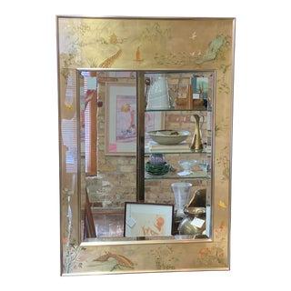 La Barge Eglomise Reverse Painted Mirror For Sale