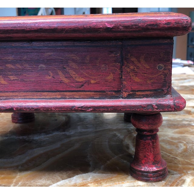 Vintage Mid Century Indian Bench For Sale - Image 4 of 6