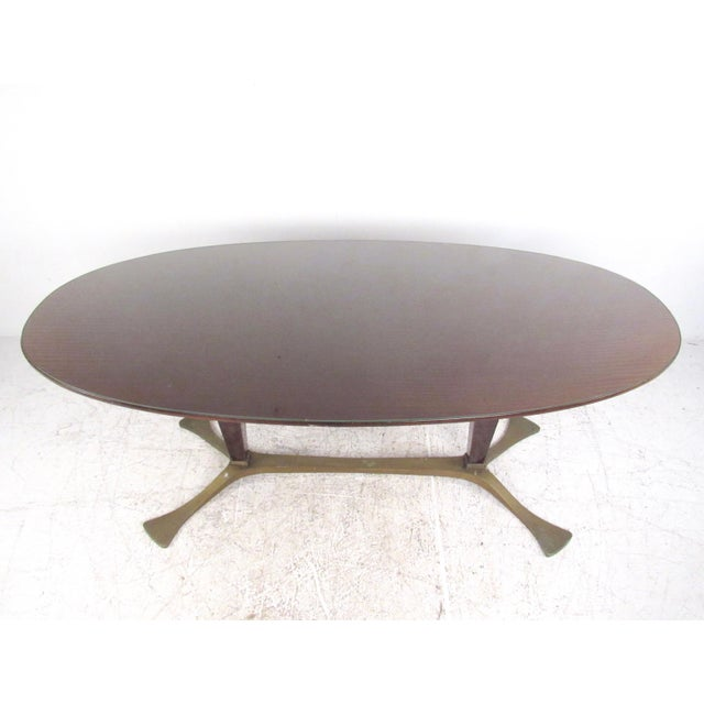 1950s Italian Glass Top Dining Table For Sale - Image 5 of 10
