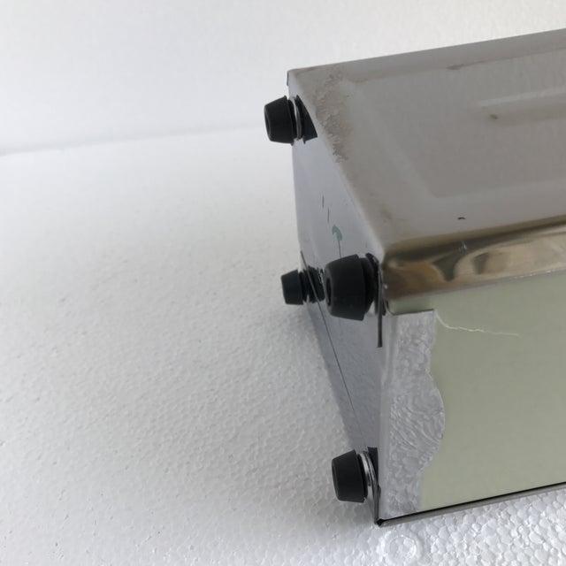 Silver Steel Diner Napkin Dispenser For Sale - Image 8 of 9