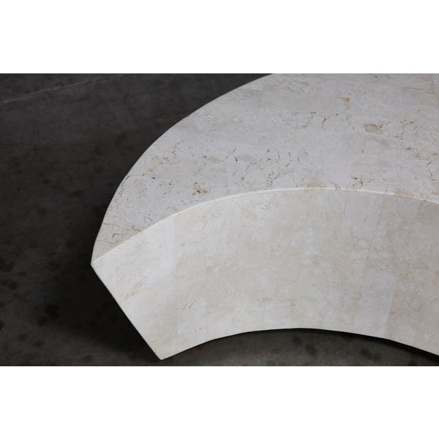 "1990s Contemporary White Freeform Tessellated Stone ""Hampton"" Coffee Table For Sale - Image 11 of 13"
