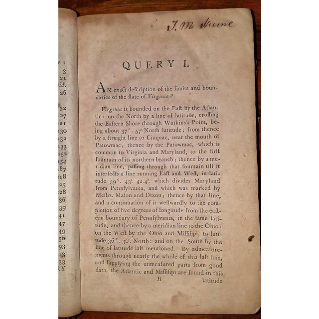 Jeffersons Notes on the State of Virginia 2nd Edition - Important Book For Sale - Image 11 of 13