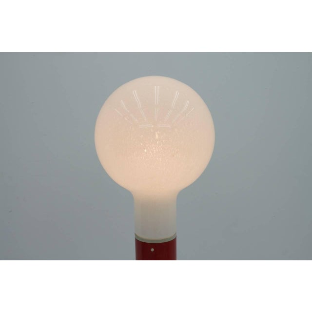 Floor Lamp With Glass and Metal Base by Kaiser, Germany, 1970s For Sale - Image 6 of 7
