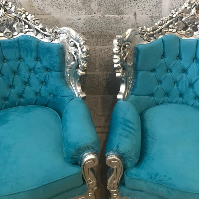 Baroque Italian Baroque Chairs - A Pair For Sale - Image 3 of 6