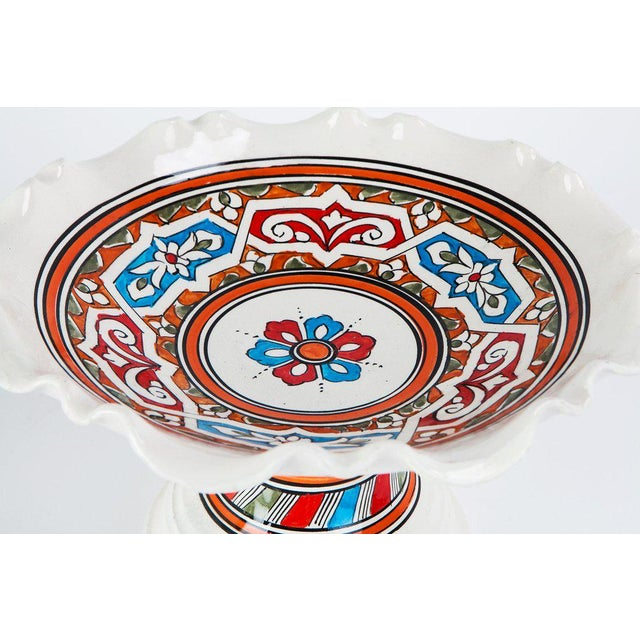 Boho Chic Moroccan Ceramic Coupe Plate For Sale - Image 3 of 3