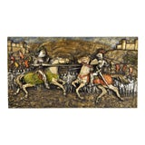 """Image of """"Medieval Jousting Knights"""" Wall Panel For Sale"""