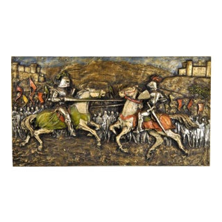 """""""Medieval Jousting Knights"""" Wall Panel For Sale"""